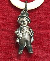 Fine Sterling Silver Artful Dodger Character Baby Rattle/Teething Ring Chester