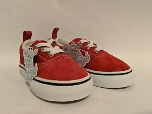 Vans New Era Elastic Deboss Checkerboard Pompeian Red Vault Toddler Size USA 5