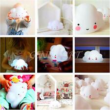 Night Light Cloud LED Lamp Romantic Home Decor Kids Baby Children Toy Gift White