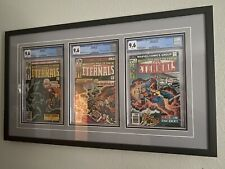 Eternals #1, #2, and #3 CGC 9.6 WHITE PAGES Framed (origin, 1st Appearance)