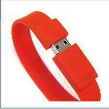 Red 2GB Portable Bracelet Wristband USB 2.0 Memory Stick Flash Pen Drive US SHIP