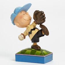 Jim Shore Peanuts Charlie Brown Baseball Perfect Pitch 4043619 NIB NEW