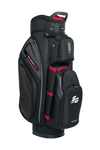 Stinger Premium Golf Cart Bag with Rain Hood High Quality Stylish - Black/Red