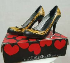 Tuk BNWB Cavegirl Original Footwear High Heels 2006 New Very Rare stitch tiger