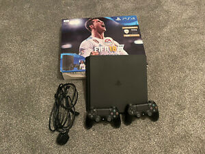 Sony PlayStation 4 Slim 500GB Console BOXED - Matte Black 2X CONTROLLER