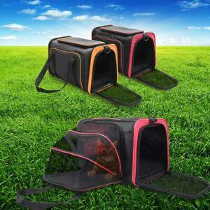3 Size Expandable Pet Carrier Hand Shoulder Bag Kennel Cage Fr S-L Dog Cat Puppy