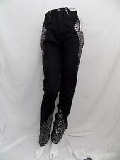 New Vtg Jeans Western Ethics Black & Silver Animal Print Rodeo Jr Size 3 25X34