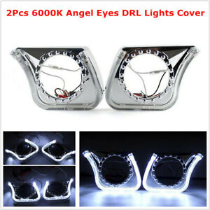 """3"""" 6000K U-Type Angel Eye DRL Integrated Light Cover For Car Headlight Fog Light"""