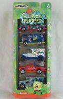 Nickelodeon Matchbox SpongeBob Squarepants 1:64 Die Cast Set of 5 Cars