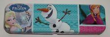 Disney frozen, elsa, anna, en métal pencil case, tin box olaf