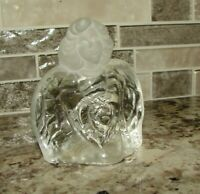 FENTON ETCHED GLASS ANGEL STATUE Guardian Angel