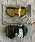 Von Zipper Snow Boarding Goggles Green Black Pattern Extra Lens