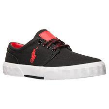 Men's Polo Ralph Lauren Faxon Low Cordura Casual Shoes BLACK