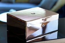 Rare Daniel Marshall Solid Sterling  covered Famous Humidor one of one