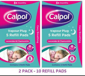 Cal pol vapour  Plug REFILLS - Lavender & Chamomile 10 Refil pads