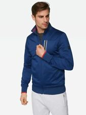 Mens Bench Trainer Jacket with Shiny Surface Blue Small CS171 DD 11
