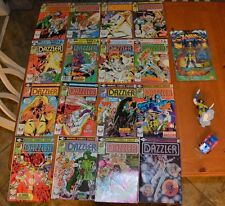GREAT COMIC BOOK DEAL FEATURING DAZZLER ISSUES 1 - 16 + FREE ACTION FIGURES