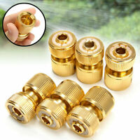 "3 Set 1/2"" Garden Water Quick Connect Brass Hose Tap Adapter Coupling Connector"