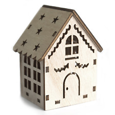 Small / Medium Wooden LED Light Shadow House - Christmas Mini Decorations