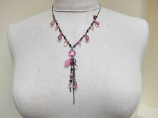 90's Necklace with beads & charms  Boho/ Hippie