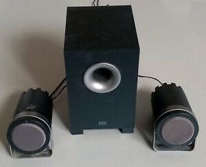ALTEC LANSING 1221 PC Speakers 2.1 Satellites & Subwoofer