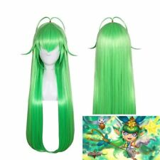 LOL Lulu Star Guardian League of Legends Long Green Yellow mix Cosplay Hair Wig