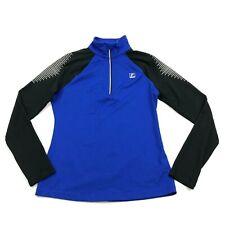 FILA Long Sleeve Running Shirt Size S Adult long sleeve 1/4 Zip Polo Reflective
