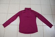 Dark Fuschia Pink Stretchy PARADOX LS Zip Neck Sweatshirt Like Pullover Small