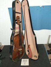 Schöne alte 4/4  Geige Hersteller Unbekannt (Vogtland?) geflammter Boden.  (ME3)