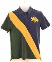 POLO RALPH LAUREN Boys Polo Shirt 14-15 Years Large Multicoloured Cotton  LQ12