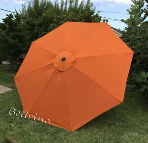 Patio Umbrella Canopy Top Cover Replacement Orange Fit 10 Ft 8-rib Umbrella