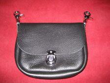 Belt loop clip biker purse black leather NEW