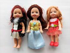 Shelly poupées Barbie Soeur Kelly & friends 3 x poupée lot (E) Chats