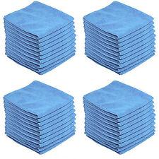 50 x BLUE CAR CLEANING DETAILING MICROFIBER SOFT POLISH CLOTHS TOWELS LINT FREE