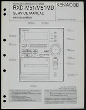 KENWOOD RXD-M51 RXD-M51MD Original Micro System Service-Manual/Diagram o198