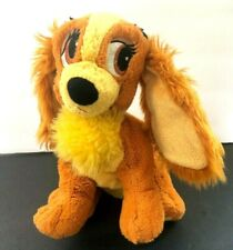 Disney World Lady And The Tramp Plush Tote-A-Tail Soft & Cute Sparkly puppy dog