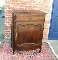 French Oak Louis XV Antique Small 1 Door, 1 Drawer Cabinet