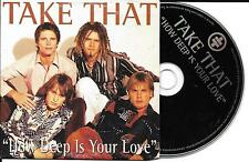CD CARTONNE CARDSLEEVE TAKE THAT 2T HOW DEEP IS YOUR LOVE (BEE GEES) 1996