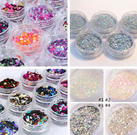 Nail Art Glitter Dipping Powder Dust UV Gel Acrylic Powder Sequins Christmas Tip