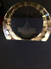 Swarovski - 'Torino' 2005 Limited Ed Disc Paperweight - Signed 2 Designers – New