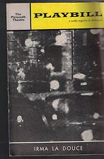 Irma La Douce Playbill October 23 1961 Elliott Gould Dennis Quilley