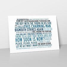 The Smiths - Art Studio A2 Lyrics Poster - Anthology - Crystalline