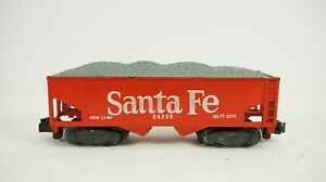 American Flyer S Gauge Santa Fe 2 Bay Offset Hopper w/ Load 24225 No Box B20