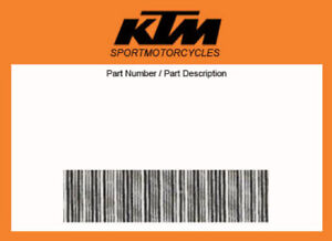 KTM  90238016044 KIT FILTRO OLIO OIL FILTER DUKE   ORIGINALE