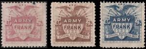 US NG 3x Army franks