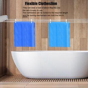 Telescopic Retractable Clothesline Clothes Drying Rope Hanger Indoor Outdoor