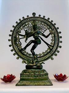 ANTIQUE LARGE SHIVA NATARAJA BRONZE STATUE INDIA HINDU GOD 28 Inches LARGE