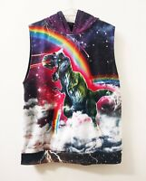 Black Milk XL hoodie Unisex T-Rex unicorn space Festival Rave Party Graphic Top