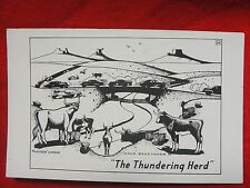 "L H DUDE LARSEN COWBOY ARTIST POSTCARD ""The Thundering Herd"" - 1949"