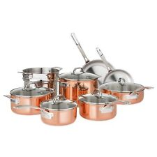 Viking 13-Piece Tri-Ply Copper Cookware Set